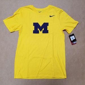 Michigan Wolverines Nike Yellow T-Shirt Men's S